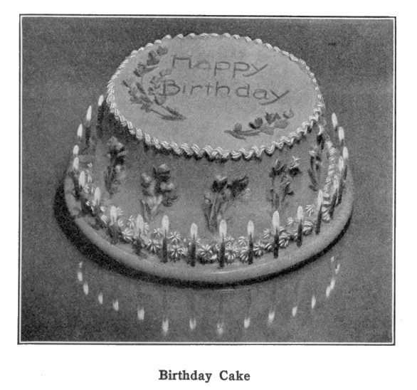 Birthday Cake Decoration Boston Cooking School Cookbook- 933