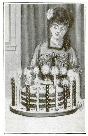 Cake Board Candle Holder Birthday Cake Popular Mechanics May 1915