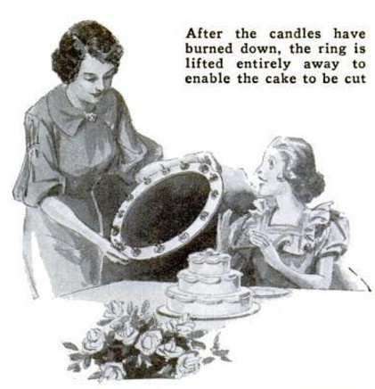 Candle Holder Ring Birthday Cake Popular Science May 1936